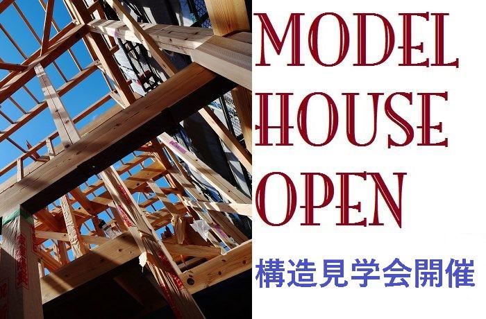 寝屋川市モデルハウスで構造見学会開催!