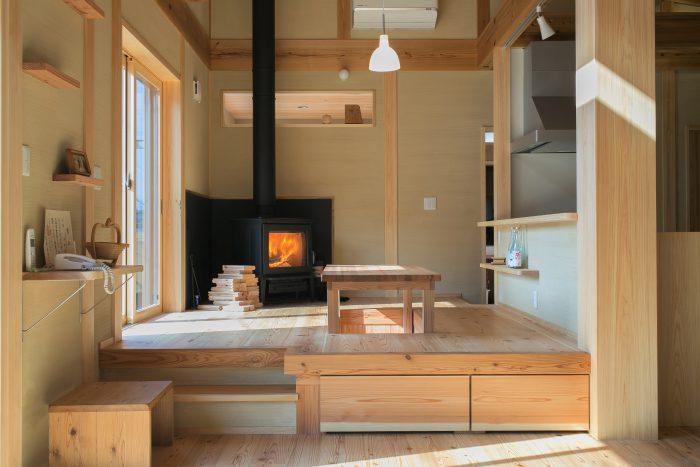 奈良県吉野O様邸<br>あらゆる材木をふんだんに使った薪ストーブのあるお家